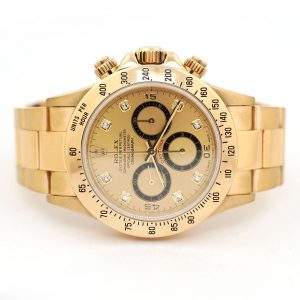 Rolex Daytona Cosmograph Diamond Dial Inverted 6 Watch