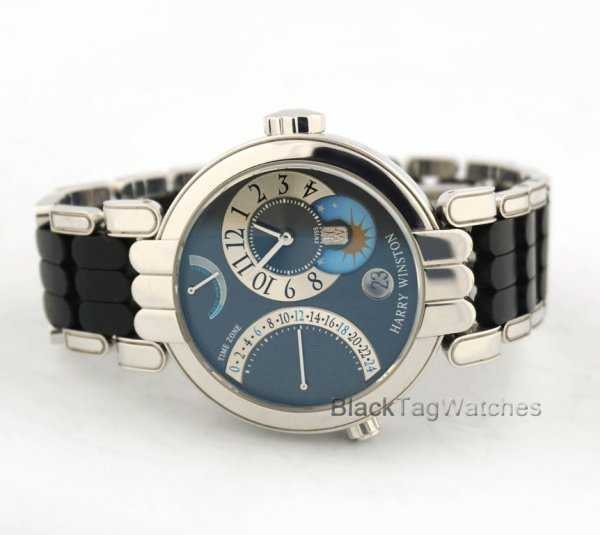 Harry Winston Premier Excenter Time Zone Retrograde Watch