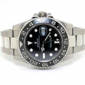 Rolex GMT-Master II 116710LN Black Dial Index Oyster Bracelet Watch