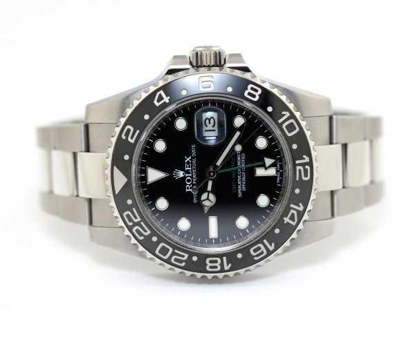 Rolex GMT-Master II 116710LN Black Dial Index Oyster Bracelet Watch