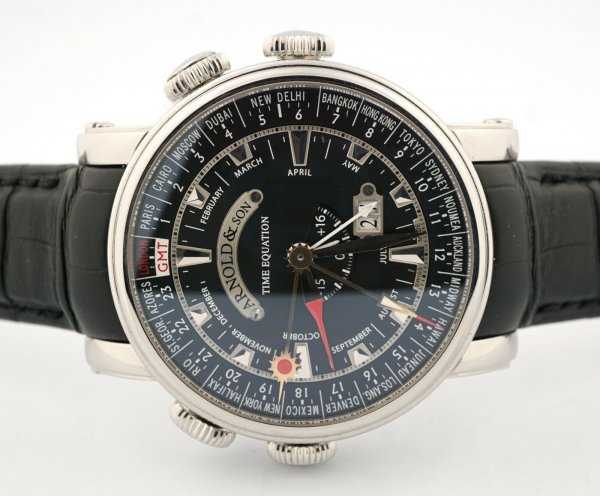 Arnold & Son Hornet World Timer Equation of Time GMT Watch