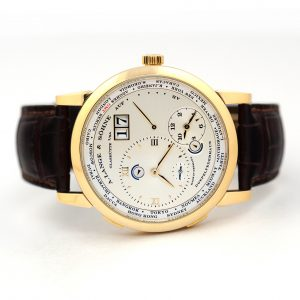 A. Lange & Sohne Lange 1 Time Zone 41.9mm Yellow Gold Watch
