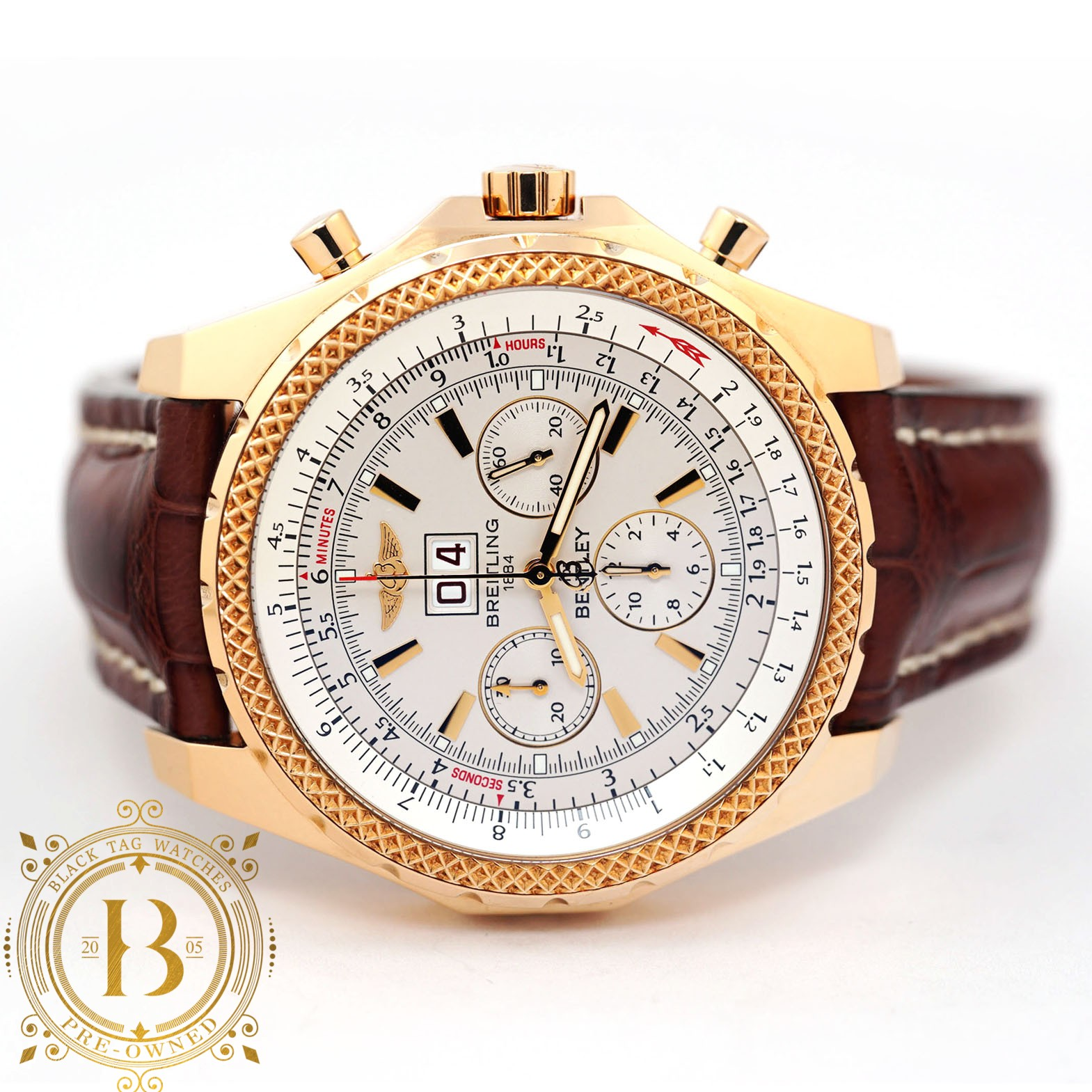 Breitling For Bentley 6 75 Chronograph Watch K44362 For 14 000 Black Tag Watches Pre Owned