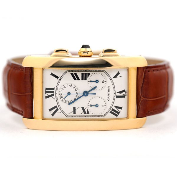 Cartier Tank Americaine Chronograph Quartz Watch