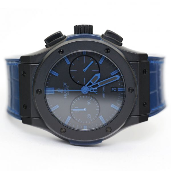 Hublot Classic Fusion Chronograph All Black Blue Watch