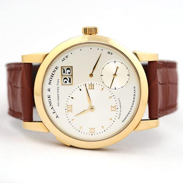 A. Lange & Sohne Lange 1 38.5mm Yellow Gold Watch