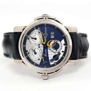 Ulysse Nardin Sonata Cathedral Dual Time White Gold Watch