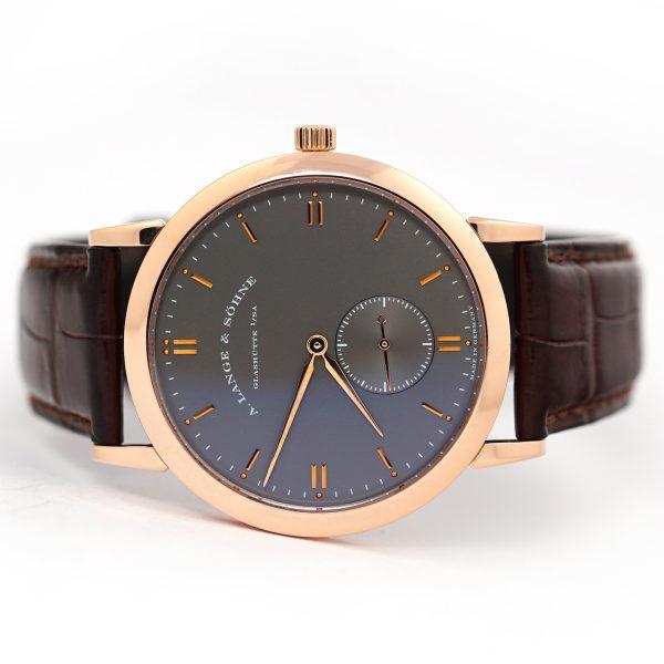 A. Lange & Sohne Saxonia Manual Wind Grey Dial Watch