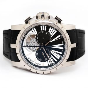 Roger Dubuis Excalibur Chronograph 45mm White Gold Watch