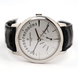 Vacheron Constantin Patrimony Retrograde Day Date Silver Dial Watch