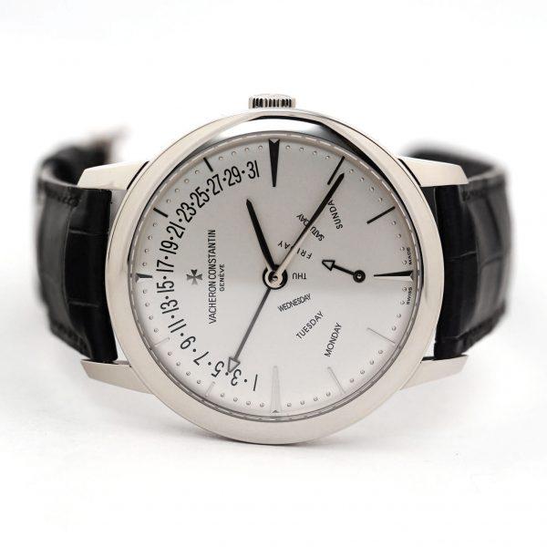 Vacheron Constantin Patrimony Retrograde Day Date Silver Dial Watch