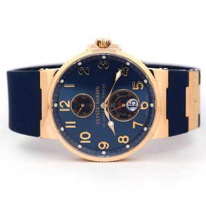 Ulysse Nardin Maxi Marine Chronometer Blue Dial Rose Gold Watch