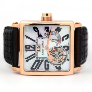Roger Dubuis Golden Square Flying Tourbillon Rose Gold Watch