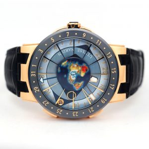 Ulysse Nardin Moonstruck Blue MOP Dial Rose Gold Watch