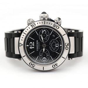 Cartier Pasha Seatimer Chronograph Black Dial Watch