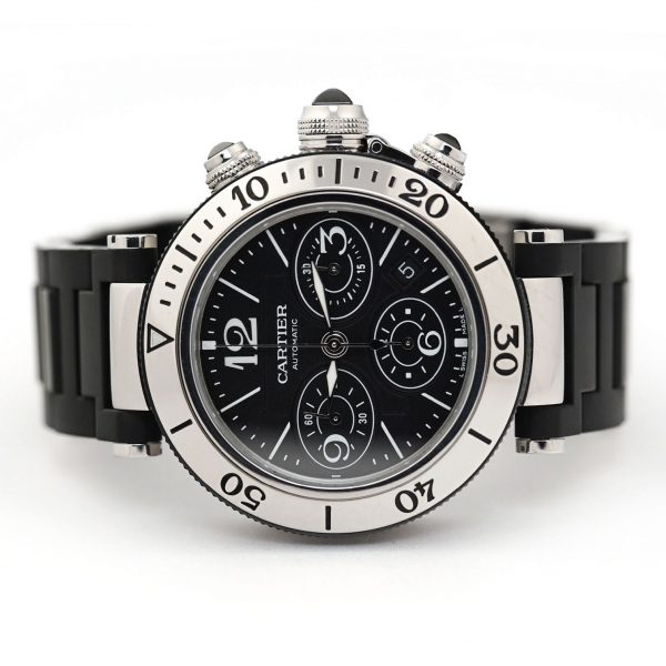 Cartier Pasha Seatimer Chronograph Black Dial Watch
