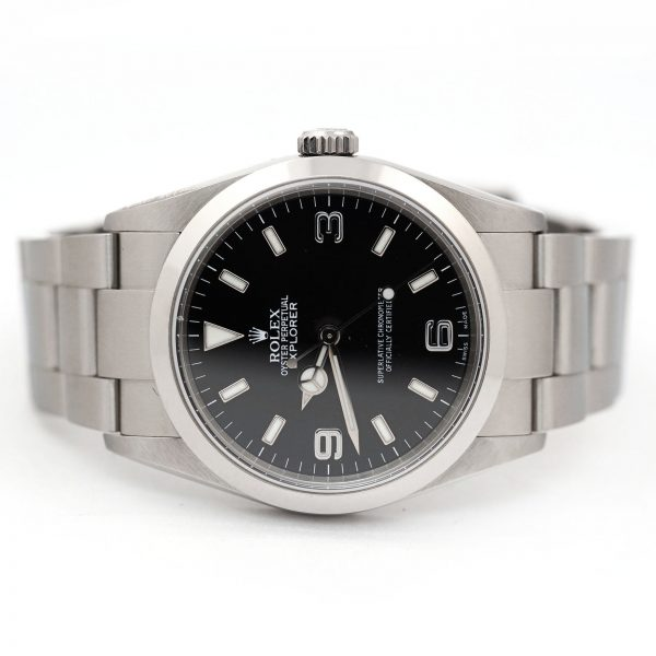 Rolex Explorer Oyster Perpetual Black Dial Watch