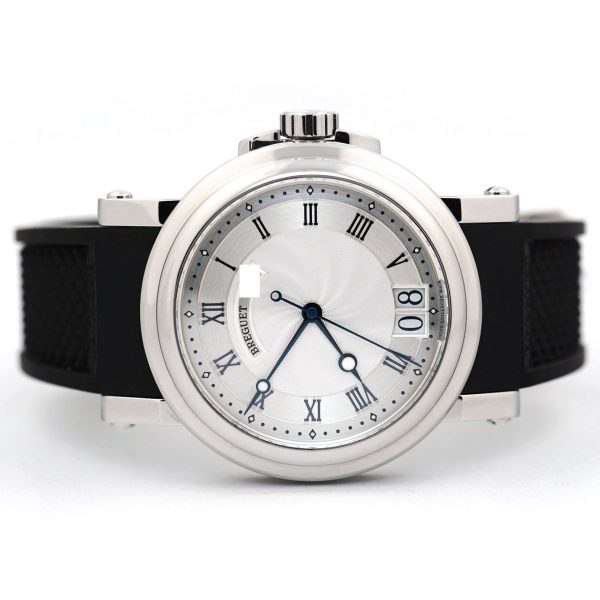 Breguet Marine Automatic Big Date Silver Dial Watch