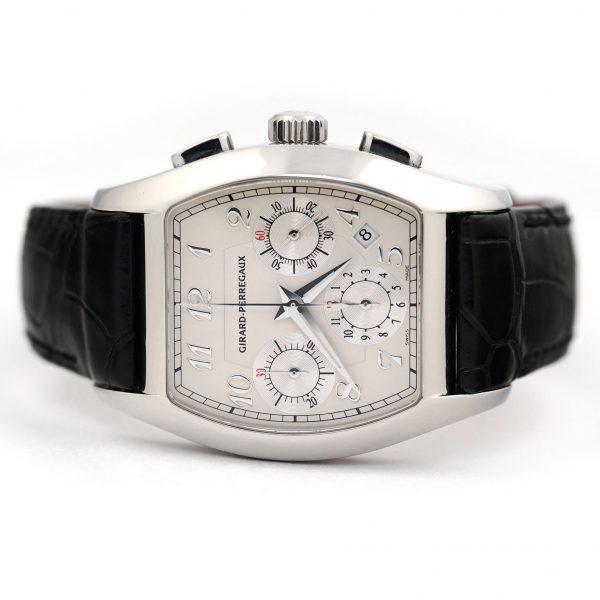Girard Perregaux Richville Chronograph Silver Dial Watch