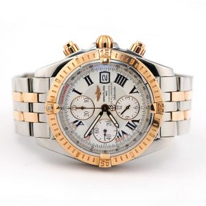 Breitling Chronomat Evolution Chronograph Steel Gold Watch