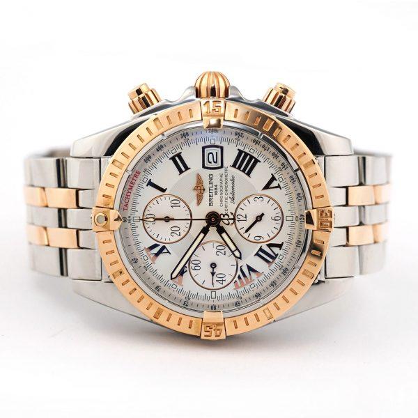 Breitling Chronomat Evolution Chronograph Steel Gold Watch