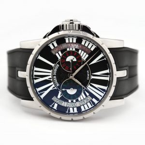 Roger Dubuis Excalibur Triple Time Zone Black Dial Watch