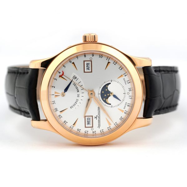 Jaeger-LeCoultre Master Calendar Rose Gold Silver Dial Wristwatch