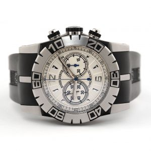 Roger Dubuis Easy Diver Chronograph Silver Dial Watch