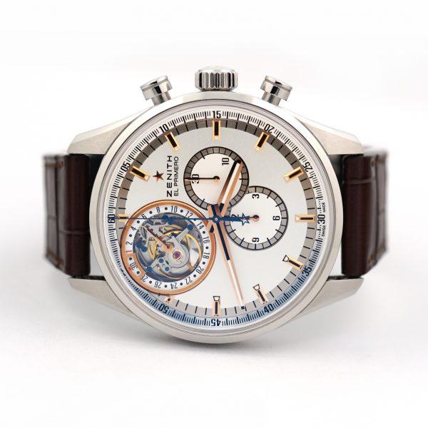 Zenith El Primero Automatic Tourbillon Chronograph Silver Dial