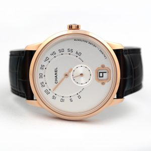 Chanel Monsieur Retrograde Jump Hour Beige Gold