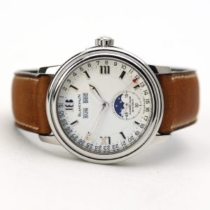 Blancpain Leman Complete Calendar Moonphase White Dial 38mm